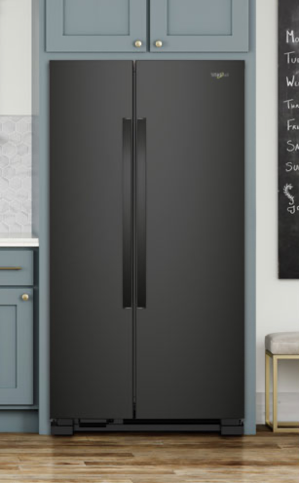 Black matte refrigerator