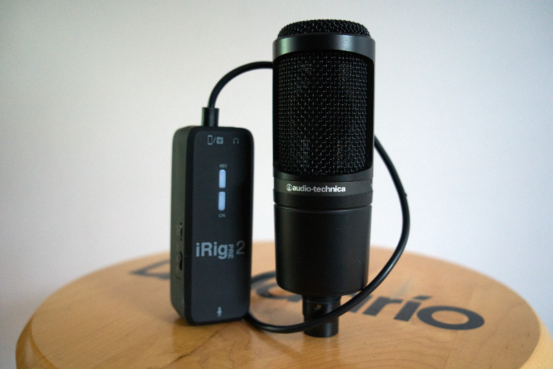 iRig Pre works with traditional microphones