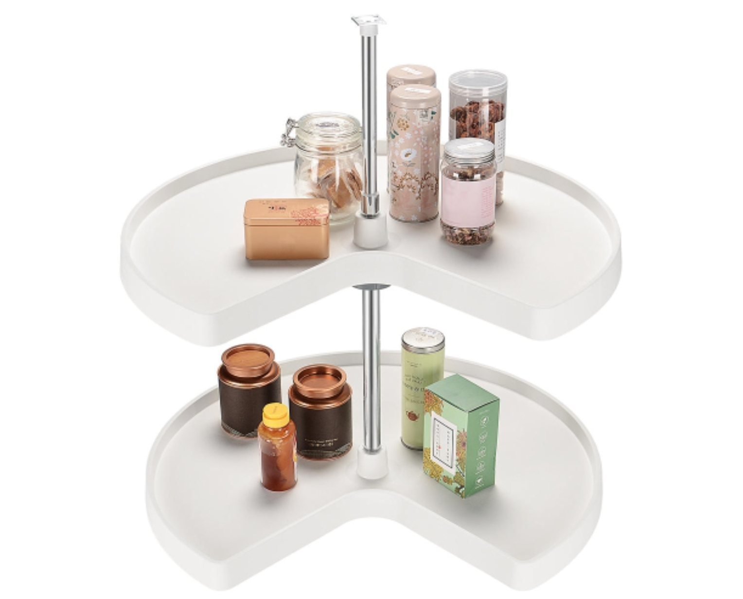 image of a lazy Susan holding jars and containers