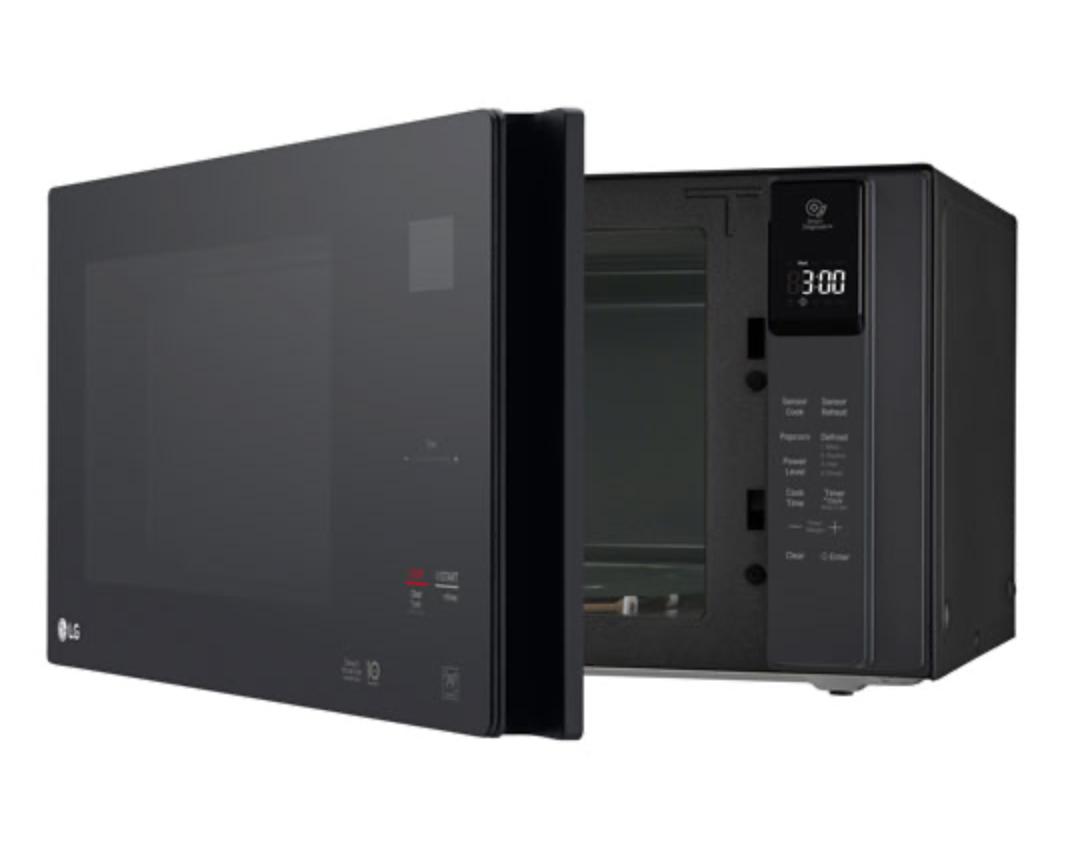 LG microwave door swung open