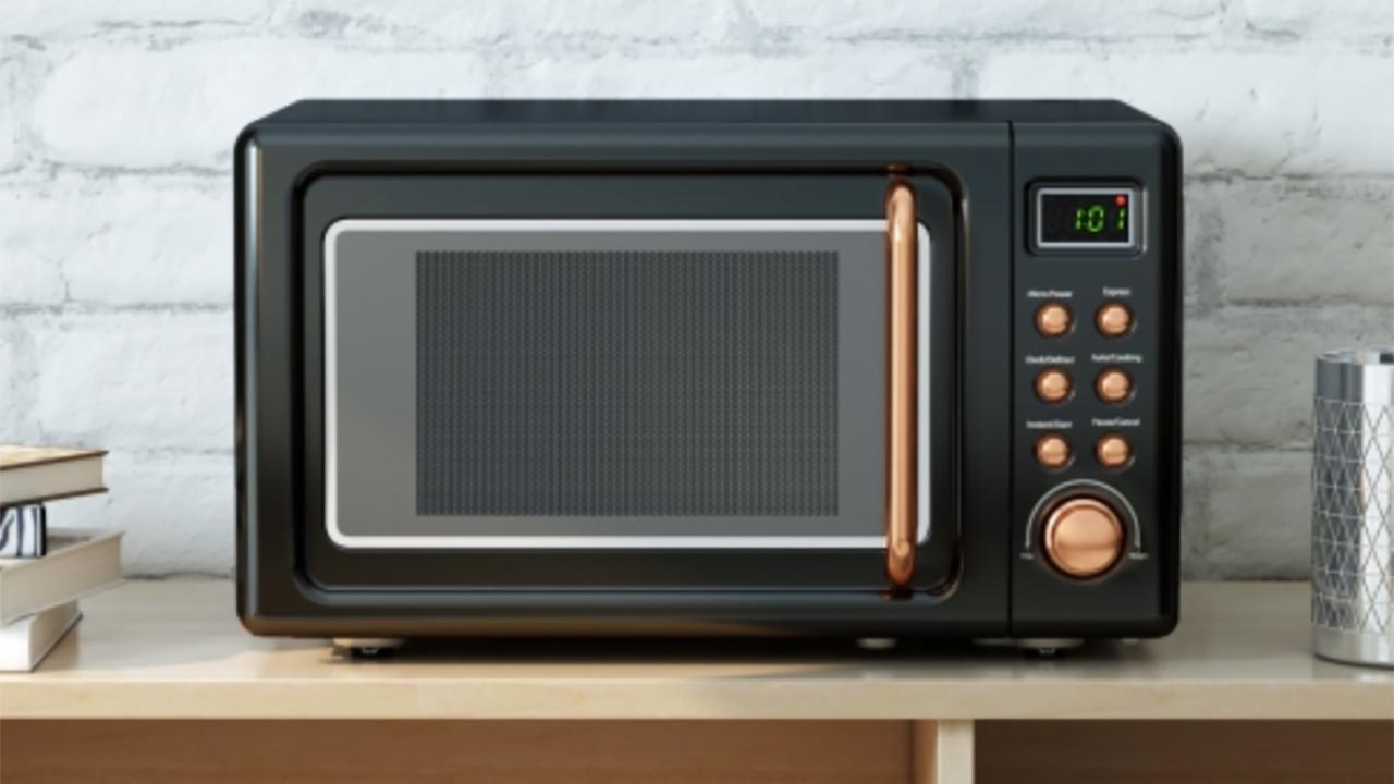 Microwave on a countertop