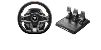 Thrustmaster t248 racing wheel and 3 pedal set