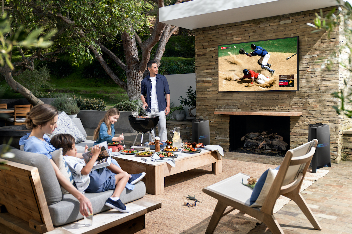 Samsung The Terrace TV lifestyle image