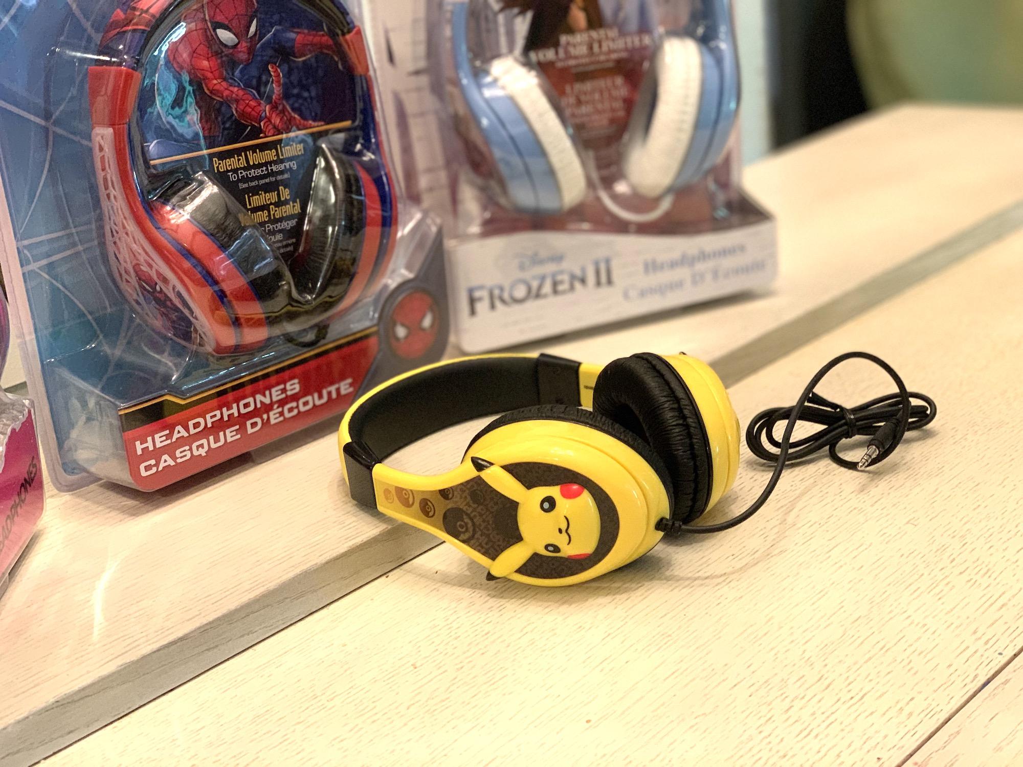 KIDdesigns character headphones Spiderman Frozen