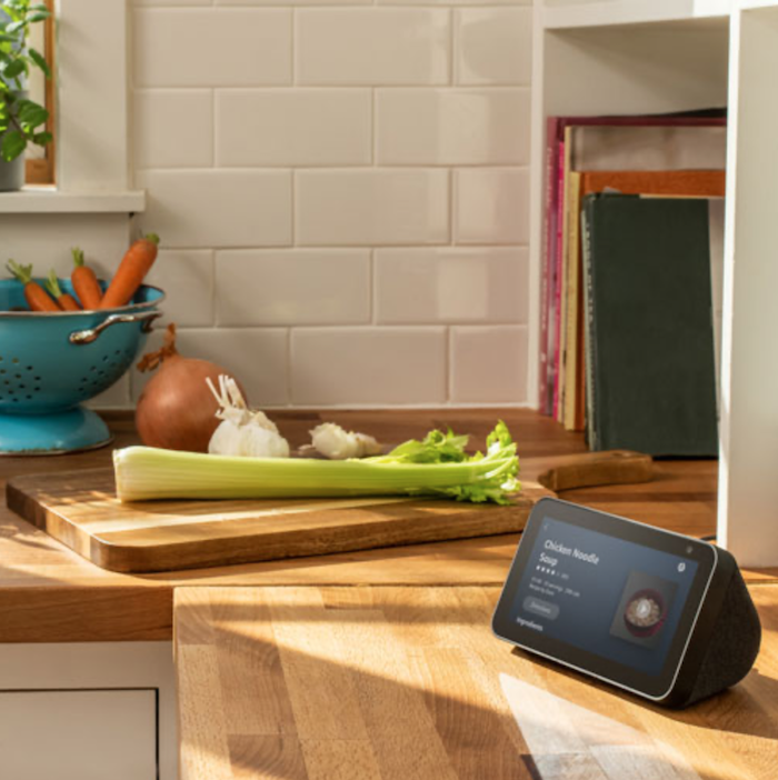 Amazon Echo 5 smart display in the kitchen