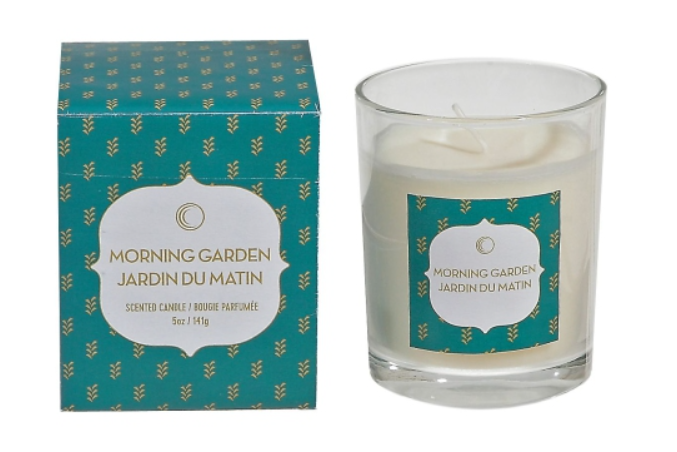 image of the Ozjar Morning Garding scented candle with gift box