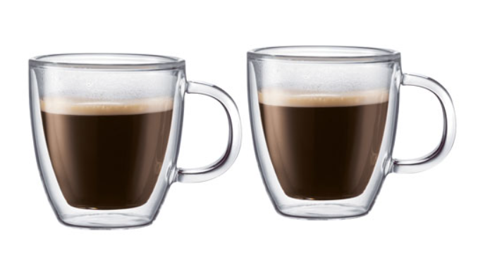 image of two glass mugs of coffee