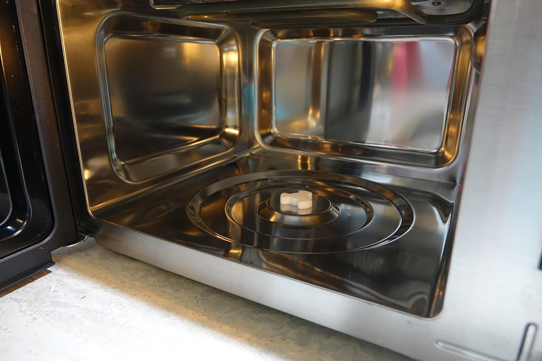 Cuisinart 3-in-1 microwave oven interior