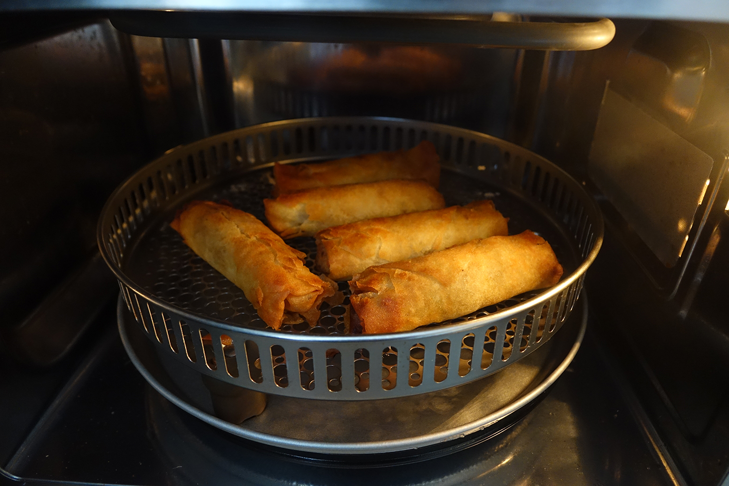 Cuisinart 3-in-1 microwave oven spring rolls