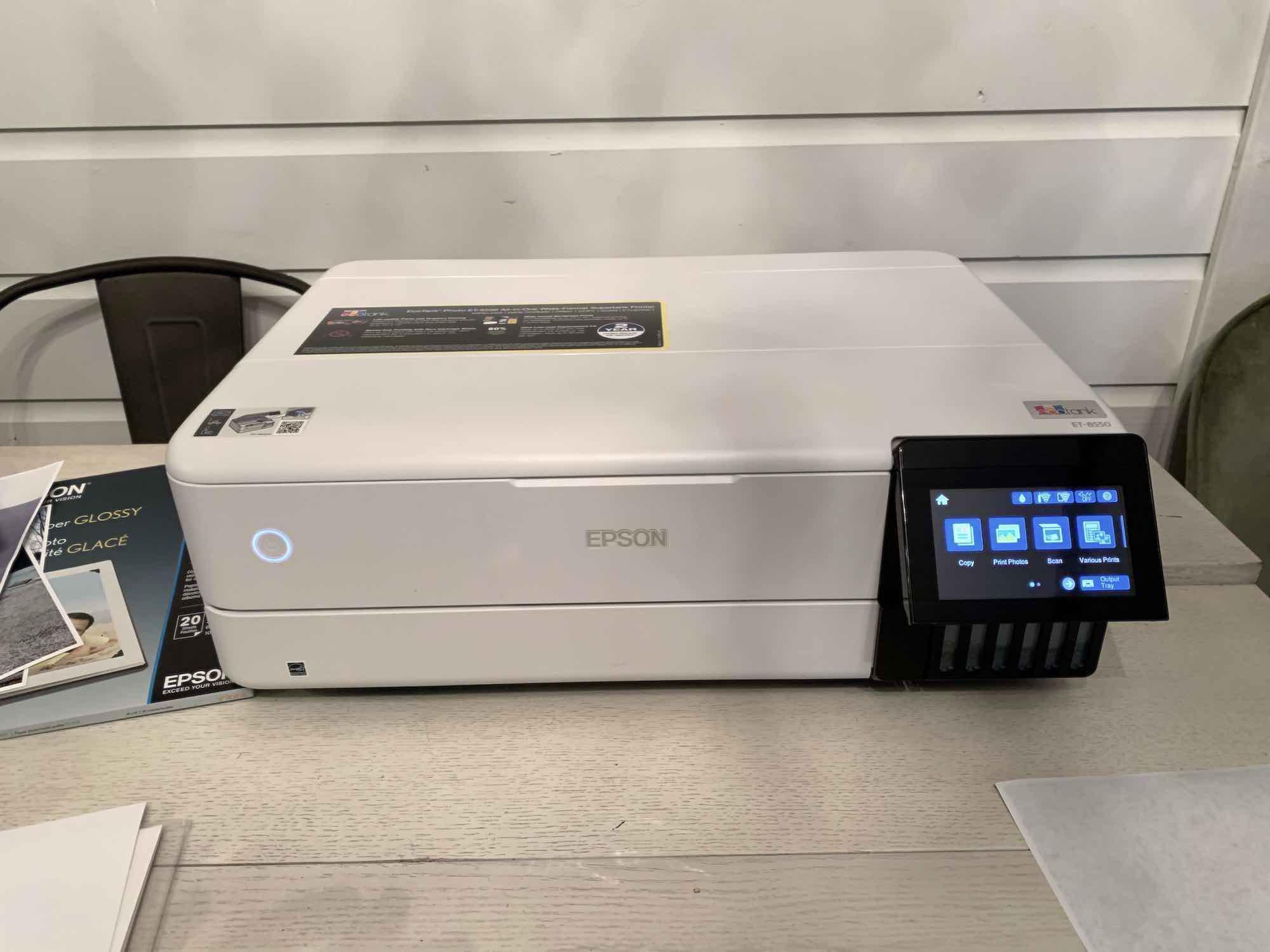 folded up epson ecotank printer