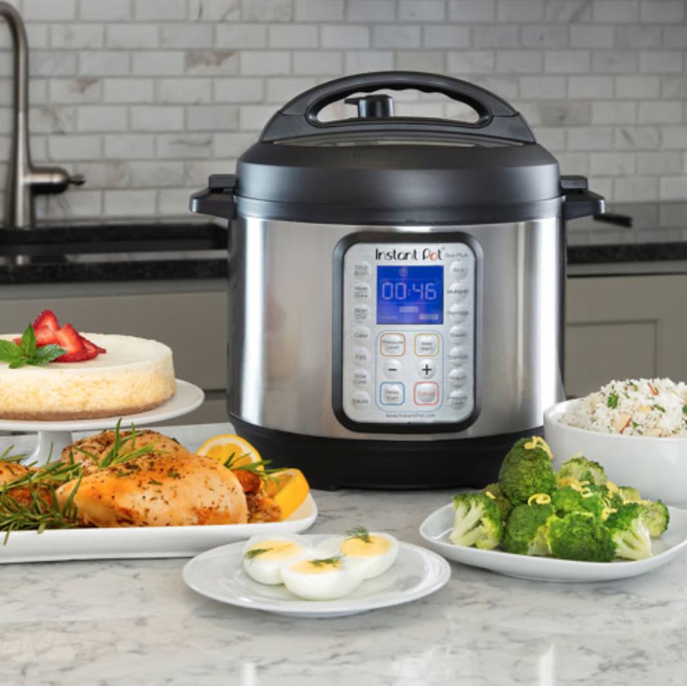 Instant Pot with dishes