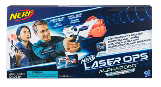 image of the Nerf Laser Ops Pro AlphaPoint Blaster 2-Pack box