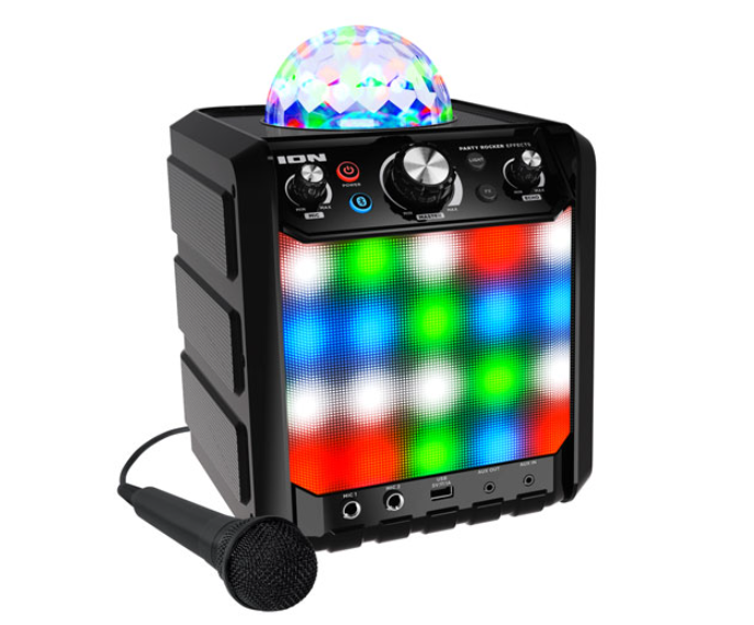 image of the ION party speaker with microphone
