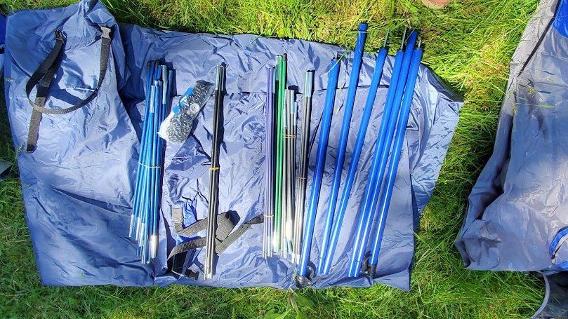 Napier tent image showing poles