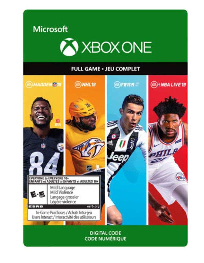 Xbox One sports bundle game