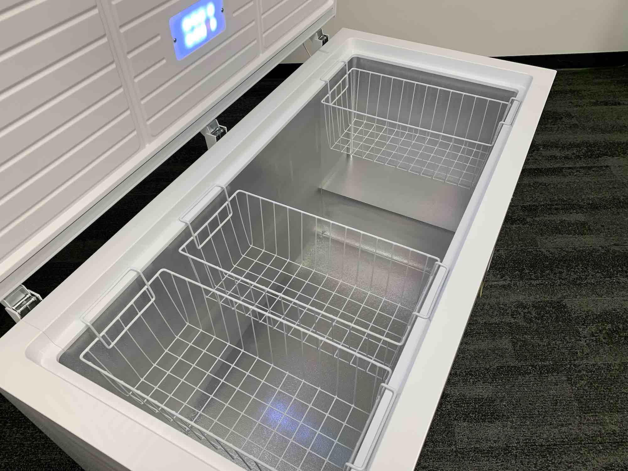 Insignia chest freezer interior