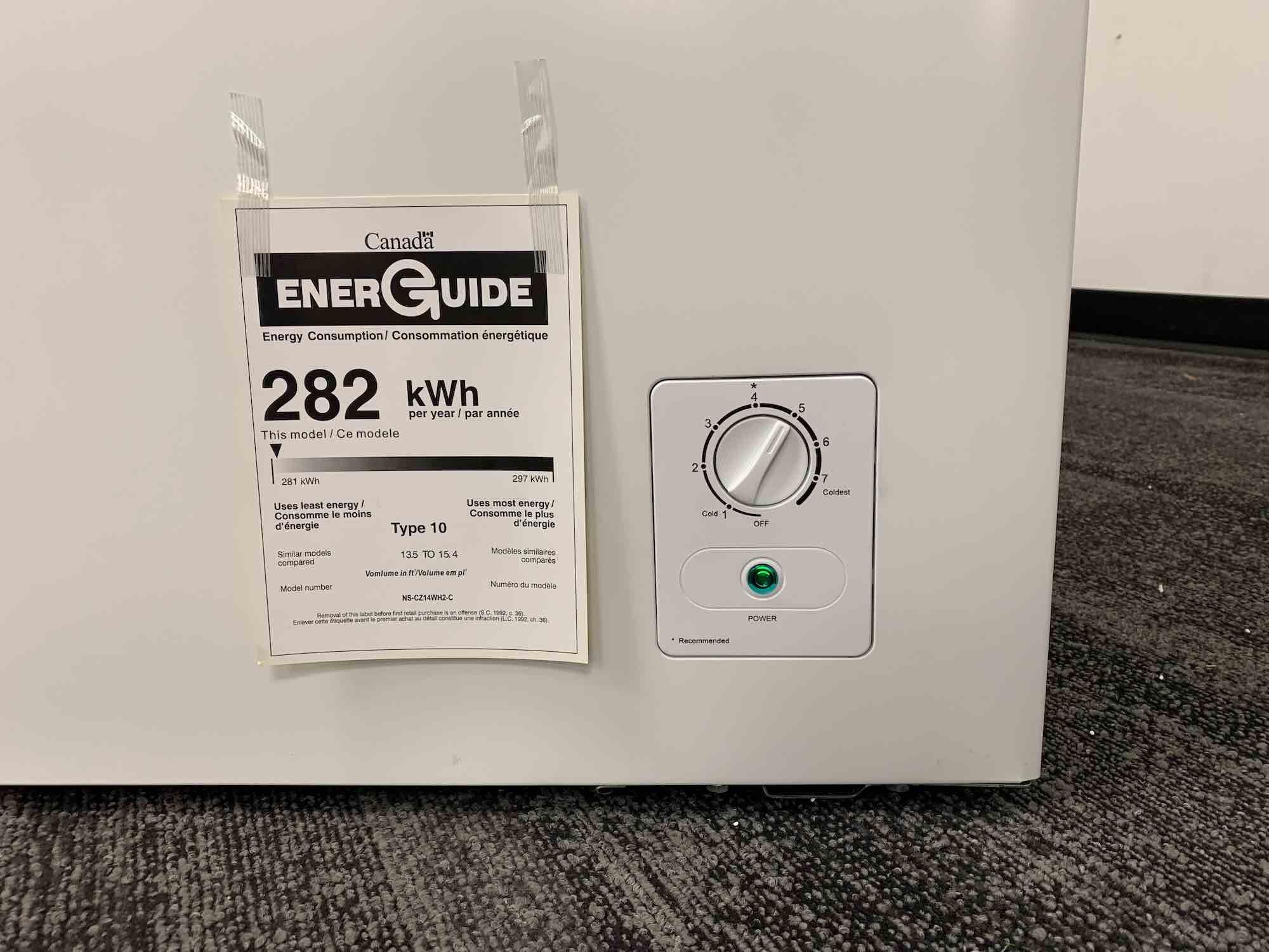 Insignia chest freezer temperature dial