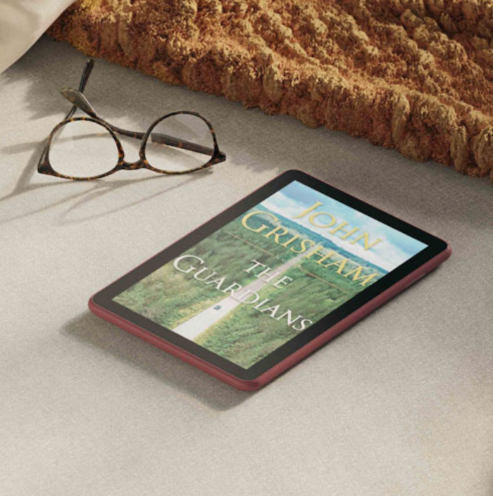 Amazon Fire tablet with ebook