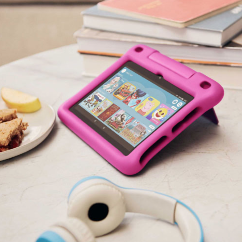 Amazon Kids tablet with bumper case