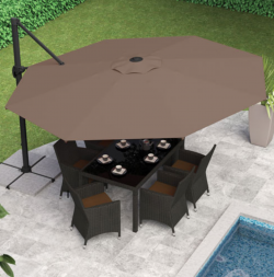 Dine outside - CorLiving collapsible patio umbrella