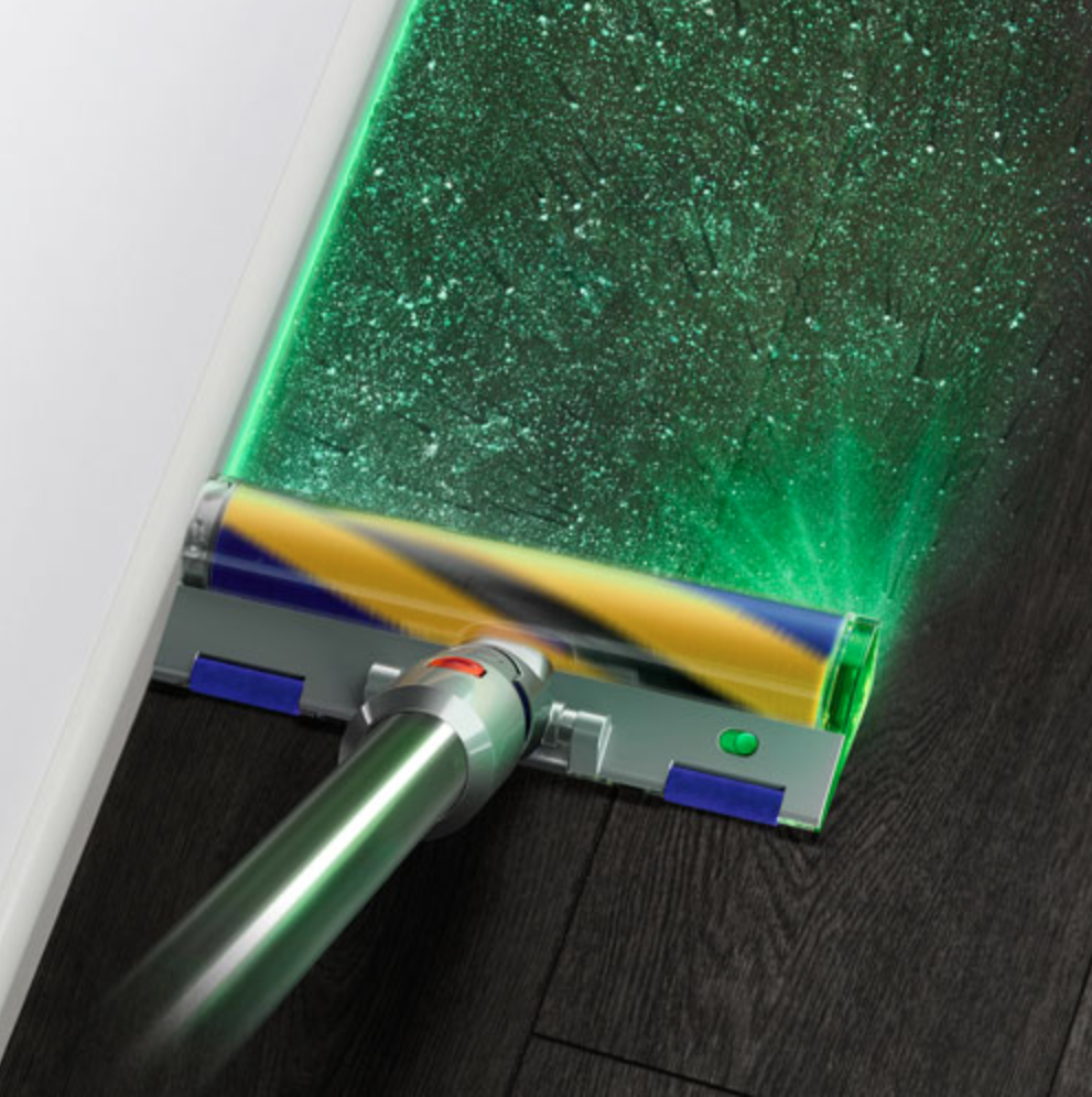 Dyson V15 Detect Complete with the Slim Fluffy head and laser