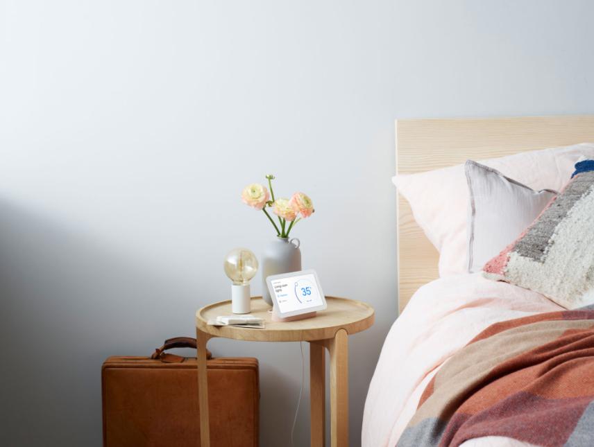 Google Nest Hub smart display on nightstand
