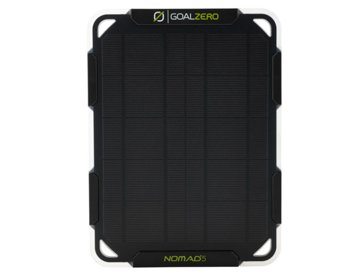 image of the Goal Zero Nomad 5 Solar Panel with Flip 12 Solar Powered Charger