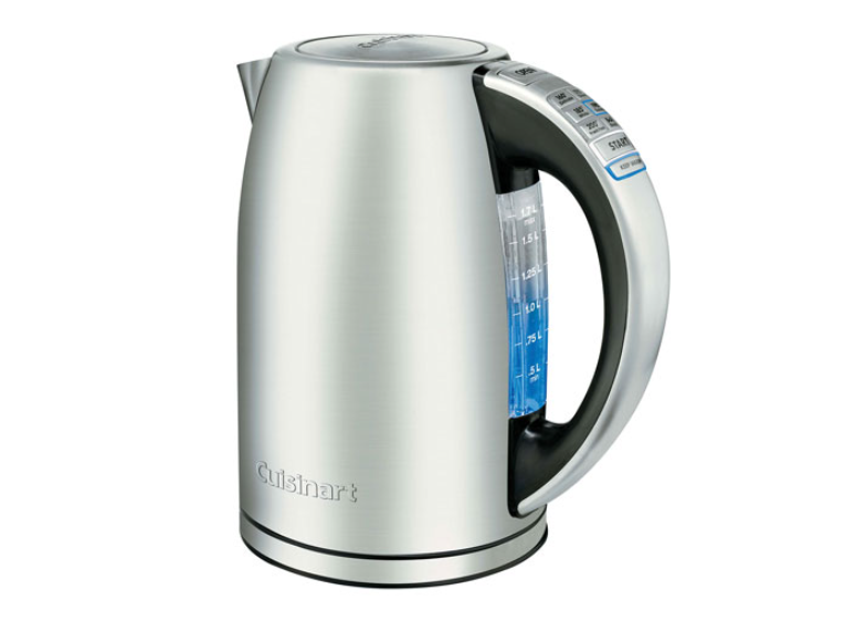 An electric kettle from Cuisinart.
