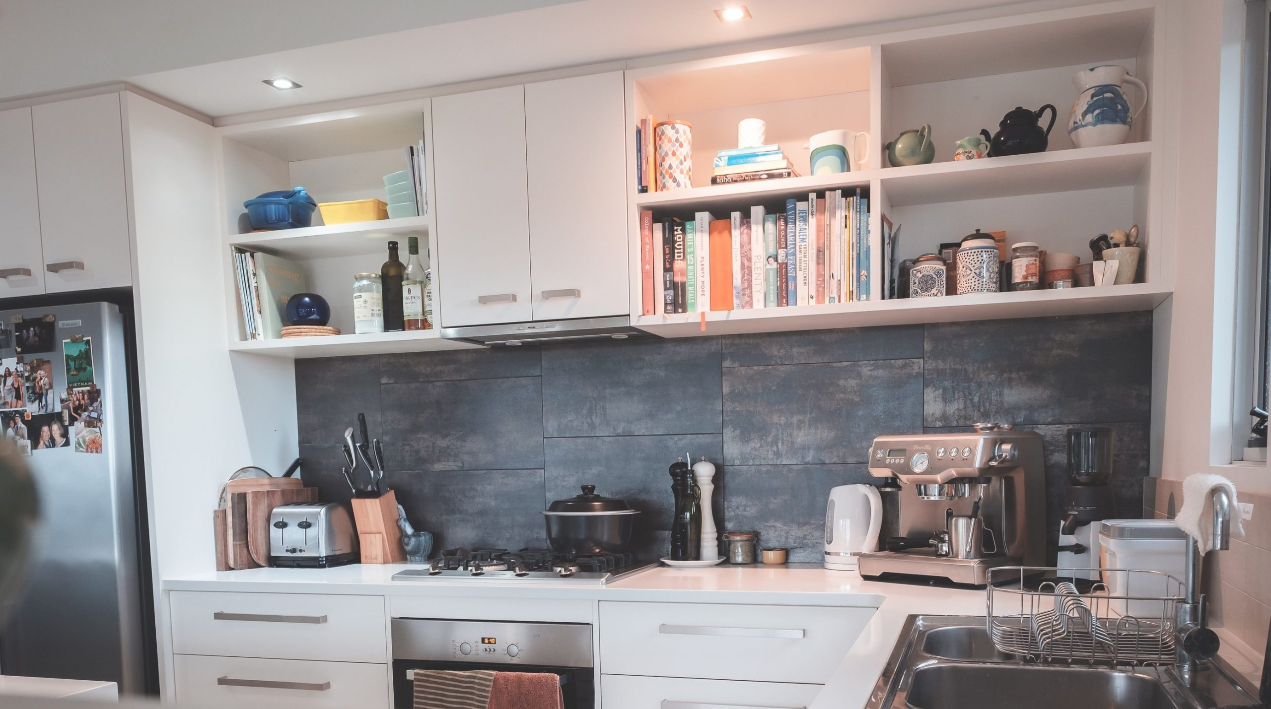 image of a kitchen with many small appliances