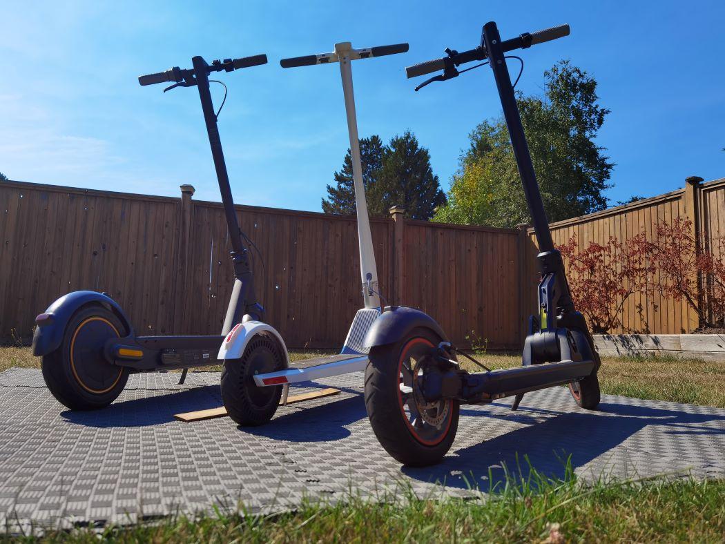Segway Ninebot, Unagi Model One E500, Kugoo M2 Pro e-scooters