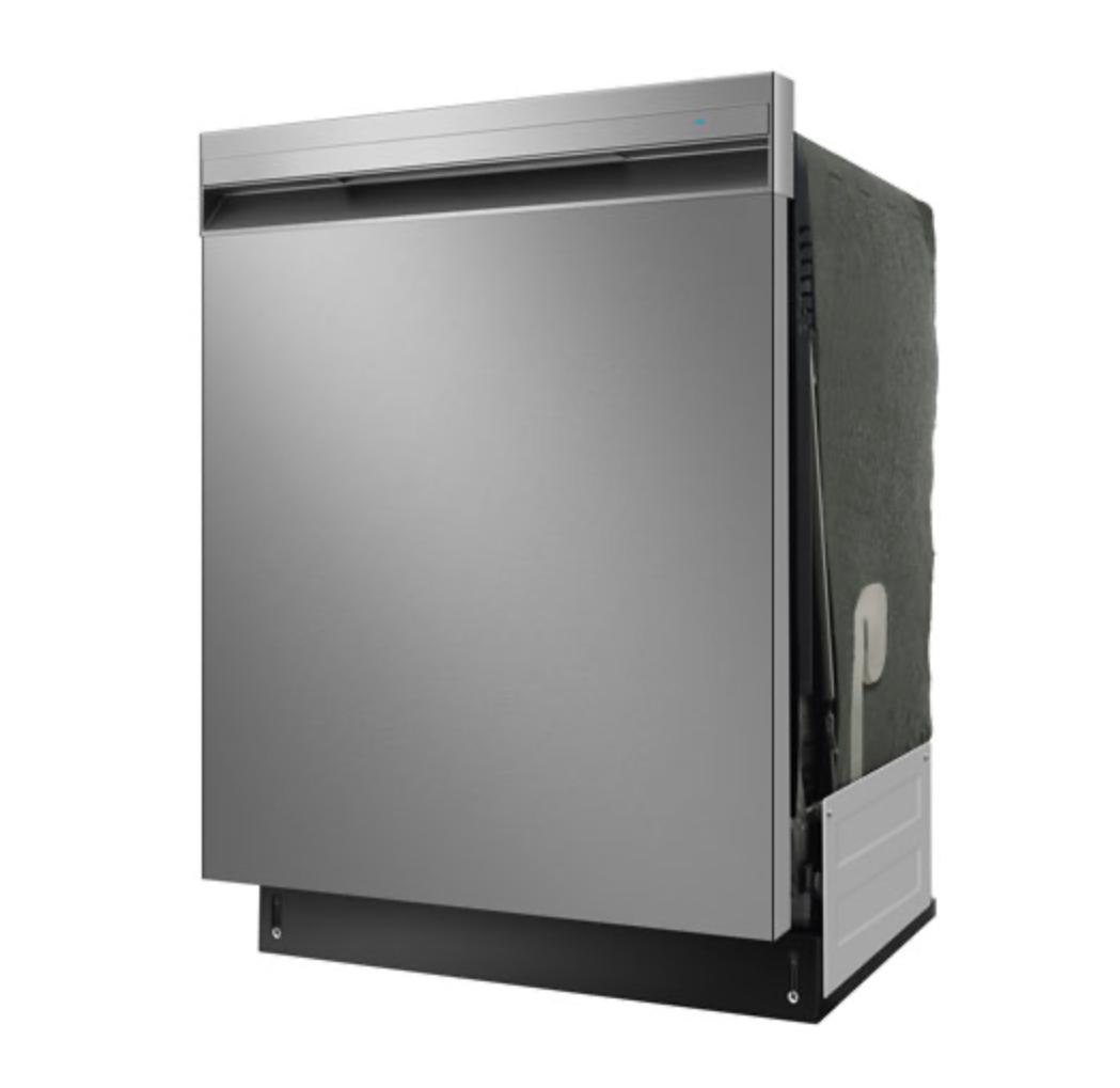 Insignia 24-inch dishwasher side profile.