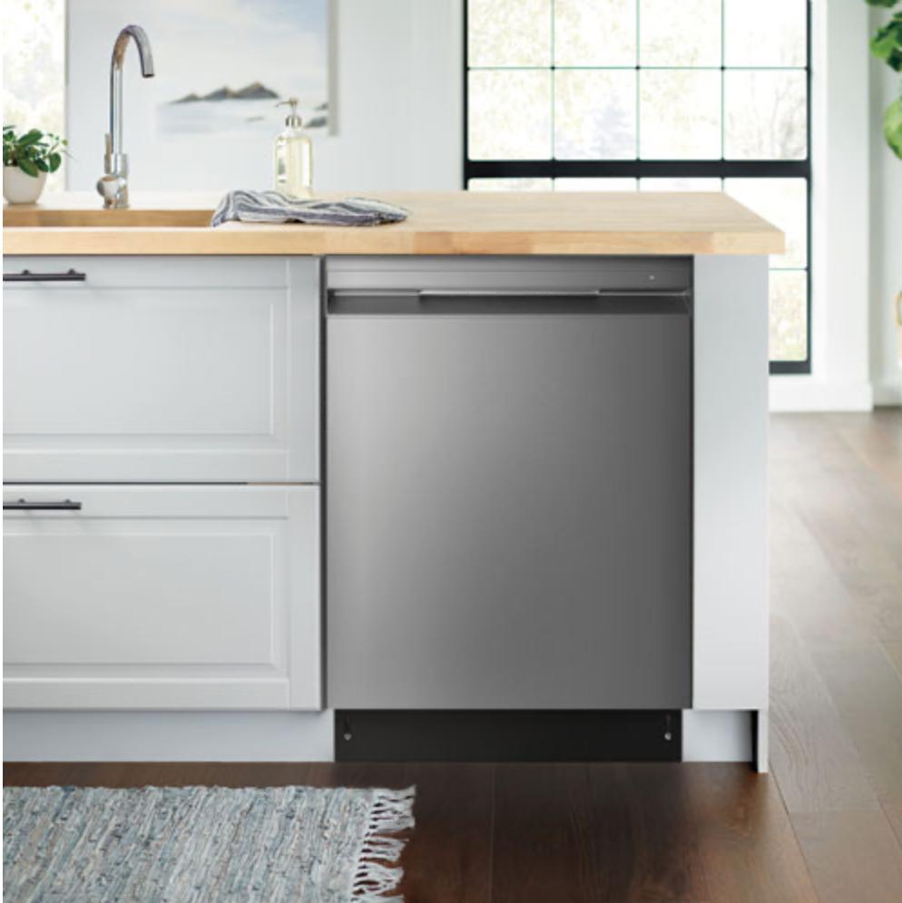 Insignia 24-inch dishwasher installed.