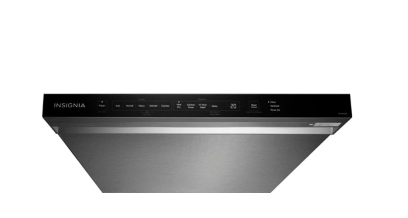 Insignia 24-inch dishwasher top panel.