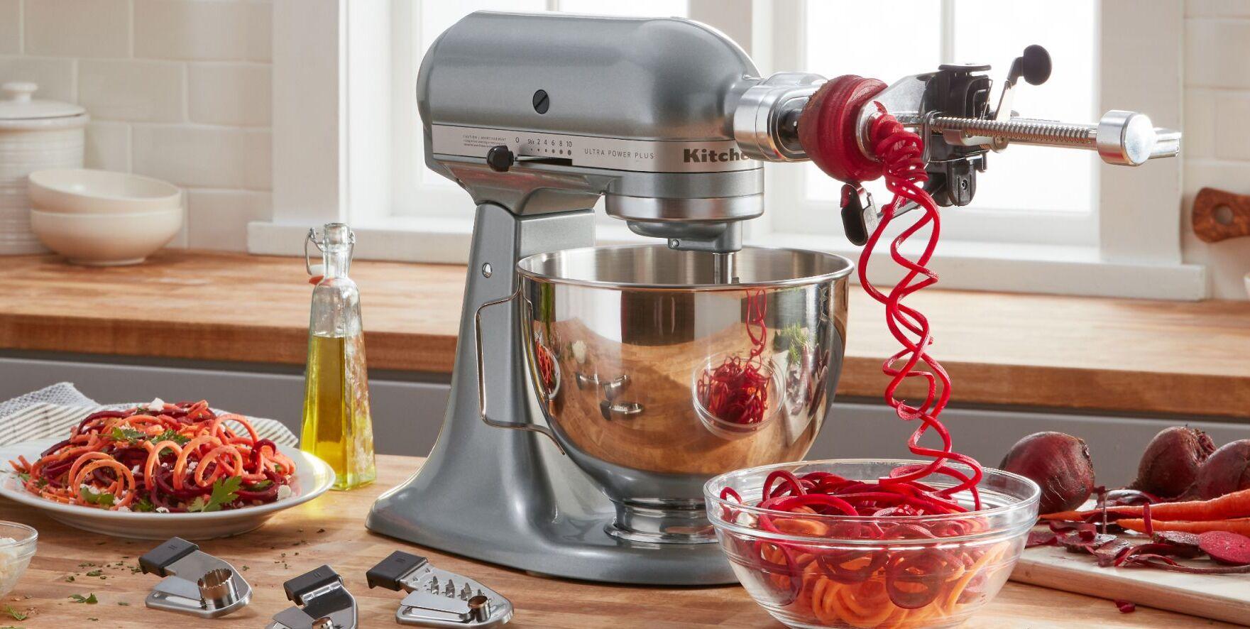 KitchenAid stand mixer with spiralizer attachment
