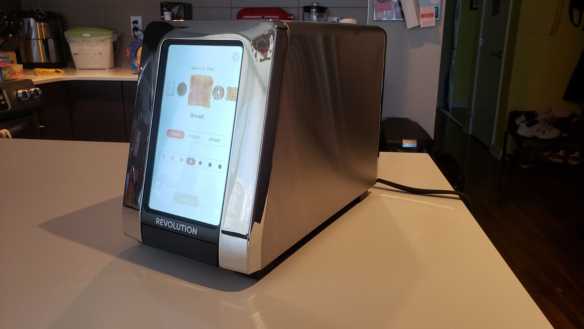 Revolution Toaster with touchscreen on