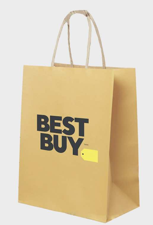 Best Buy paper bags