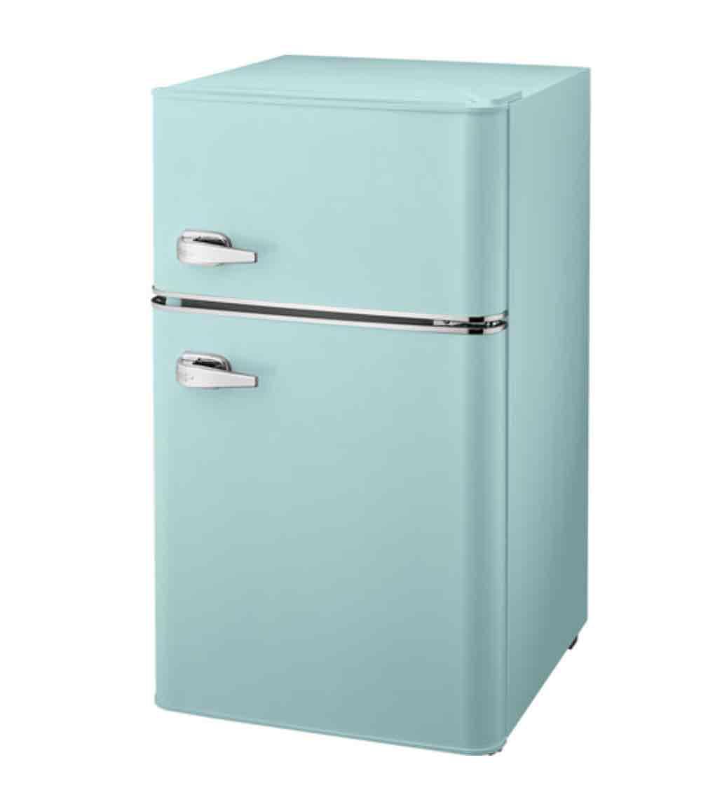 Insignia retro bar fridge mint green