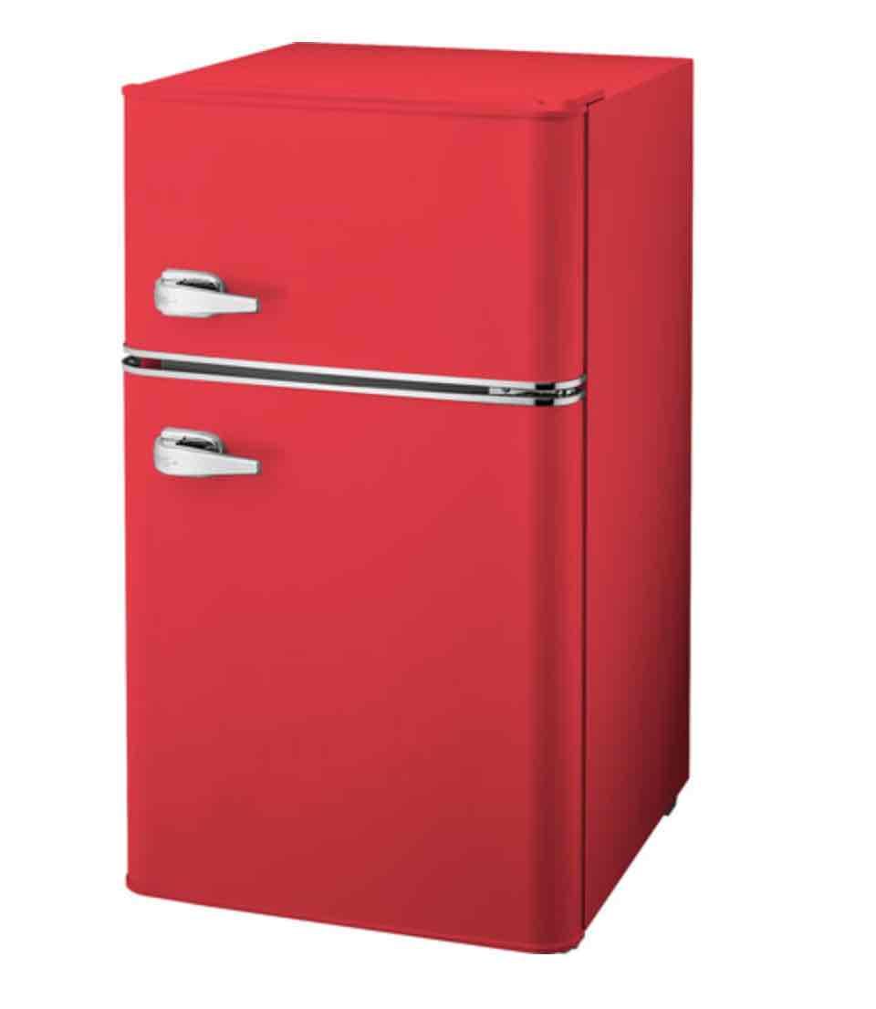 Insignia retro bar fridge red
