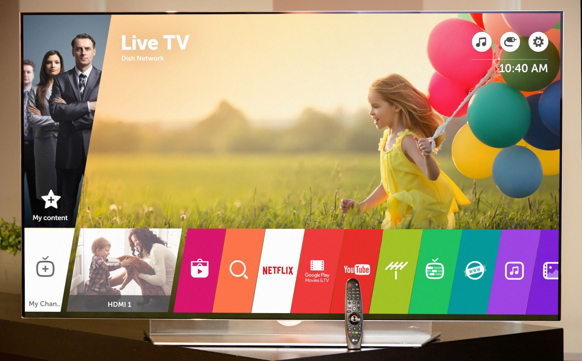 LG TV operating system copy