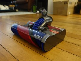 Dyson OmniGlide vacuum front angle