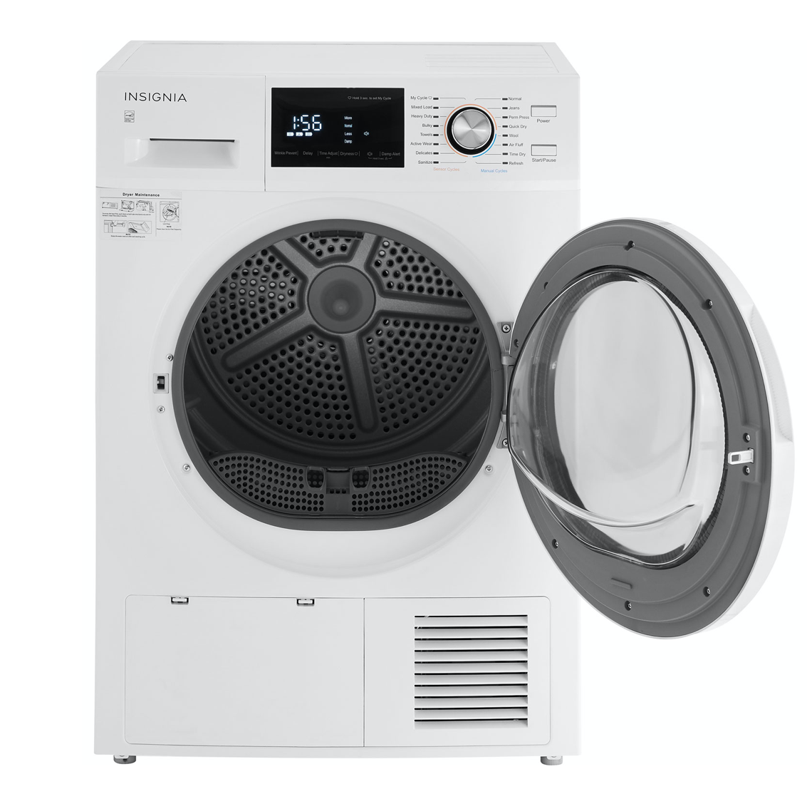 front of the Insignia electric dryer