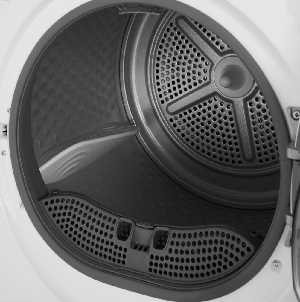 aluminum drum in the Insignia electric dryer