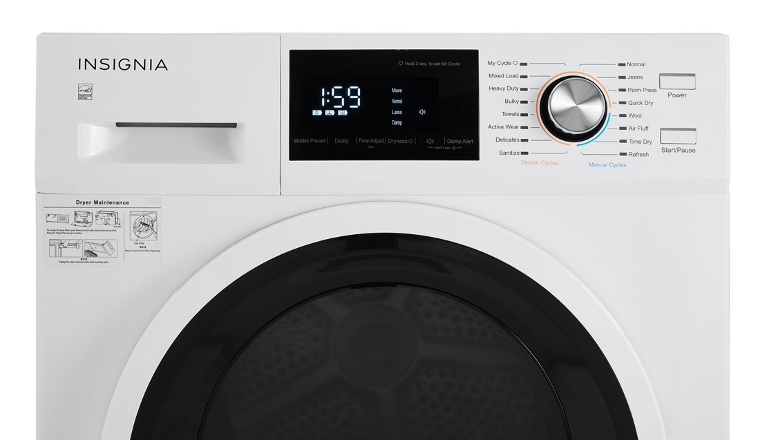 Insignia dryer control panel and LCD