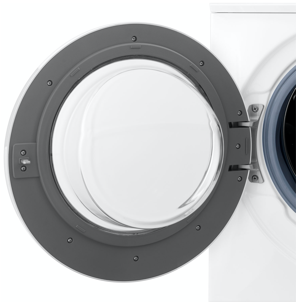Door open on the Insignia washer