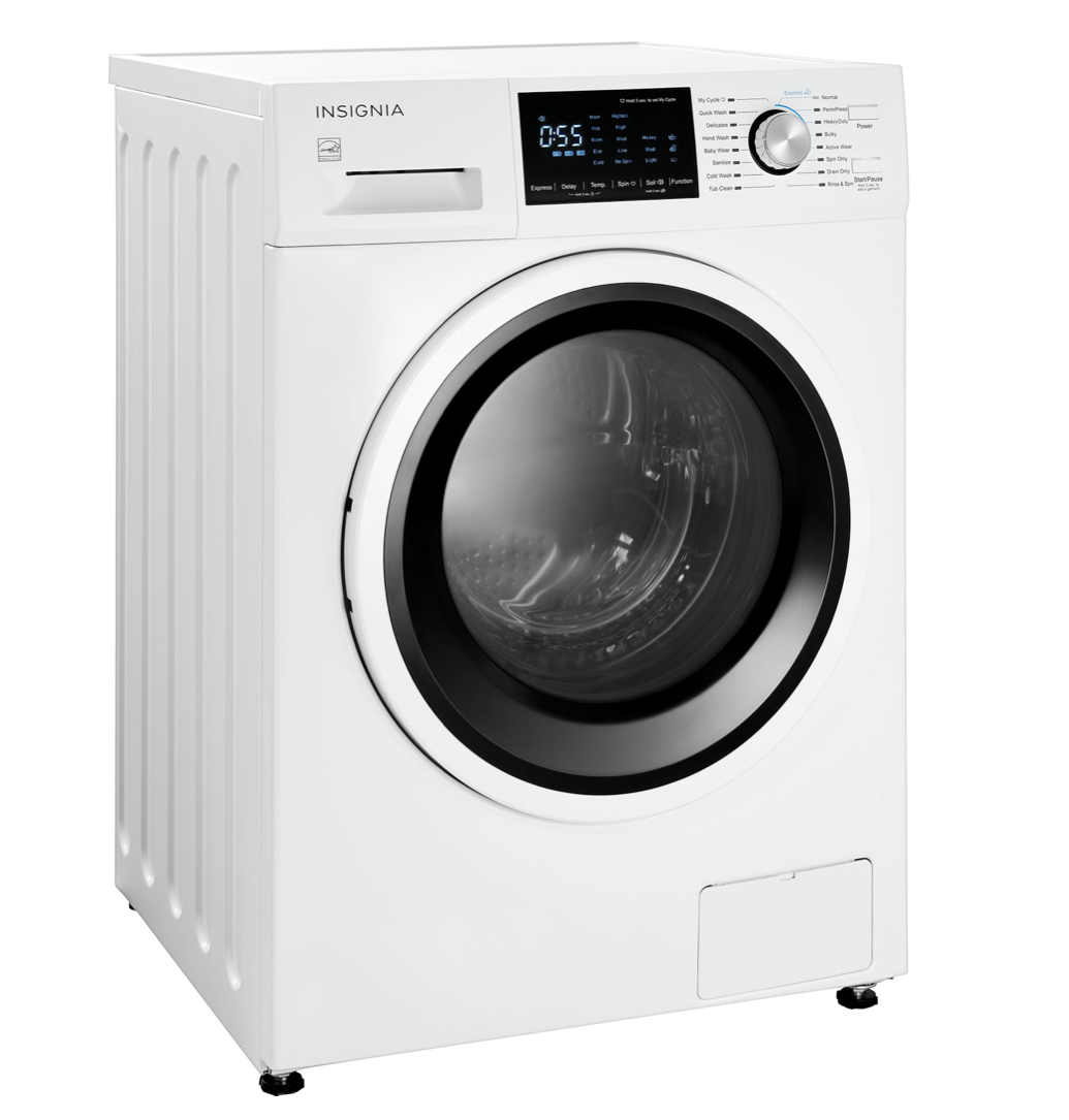 side profile of the Insignia washer