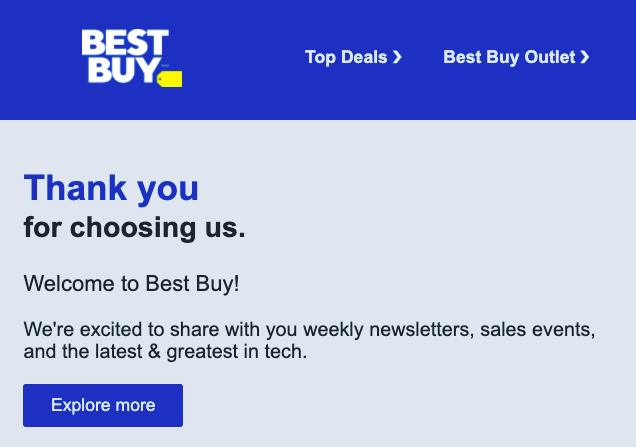 the Best Buy Canada newsletter