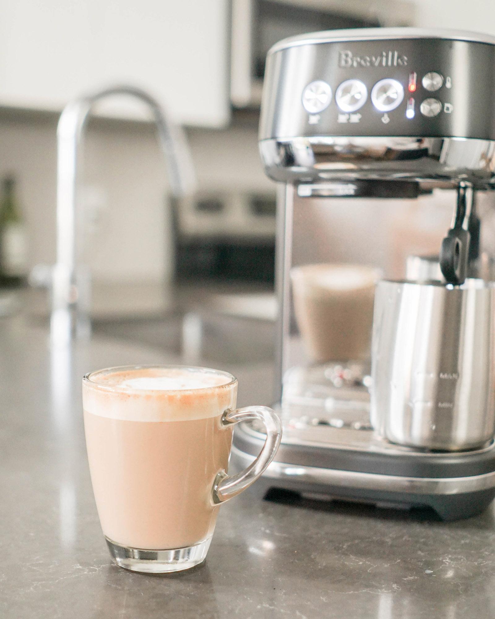Breville Bambino Plus oat milk latte