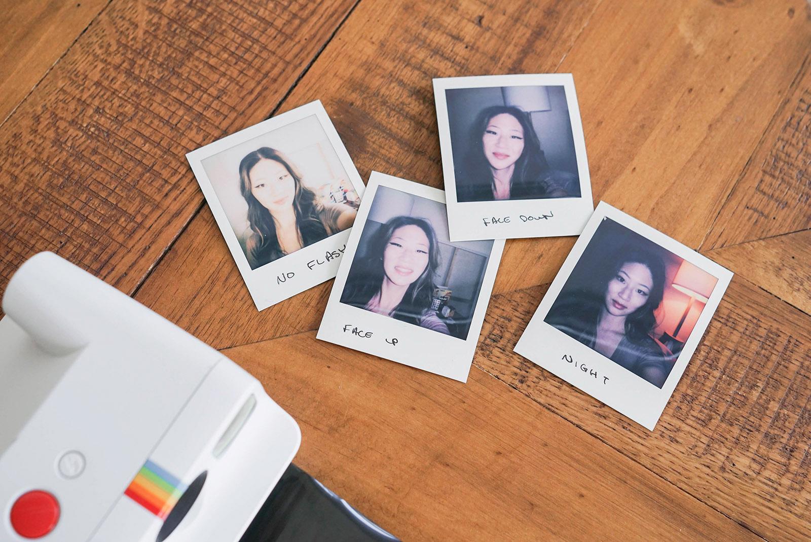 Polaroid Go Instant Camera flash comparison