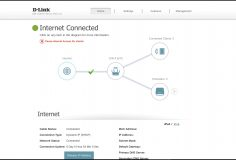 D-Link wi-fi browser controls