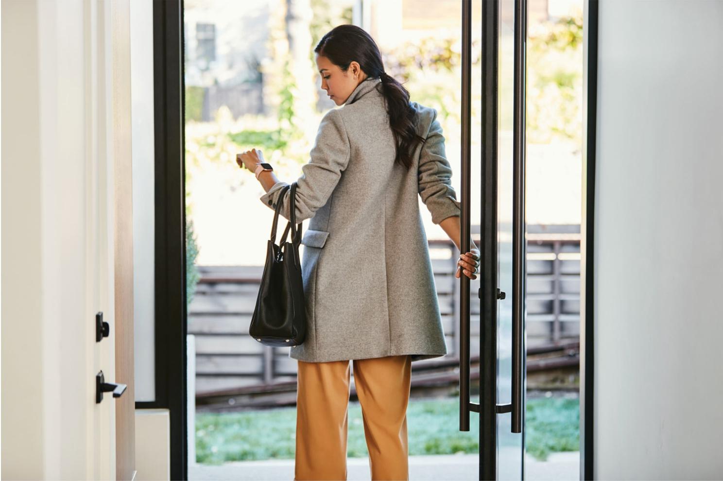 Woman wearing Fitbit smartwatch